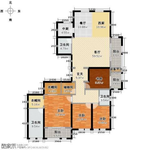 万科草庄4室1厅3卫0厨230.00㎡户型图
