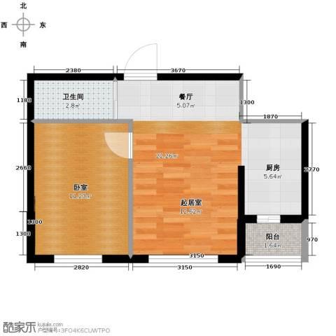 远创樾府1室1厅1卫0厨53.00㎡户型图