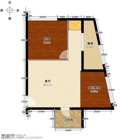 新城市广场1厅1卫1厨83.00㎡户型图