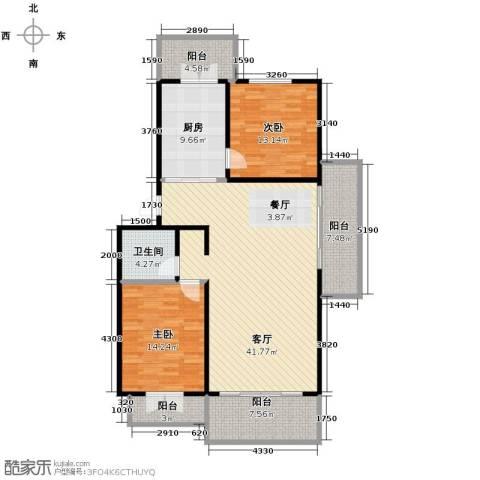华远水木清华2室2厅1卫0厨147.00㎡户型图