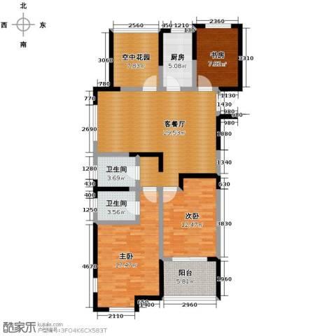 金辉・悦府3室2厅2卫0厨121.00㎡户型图