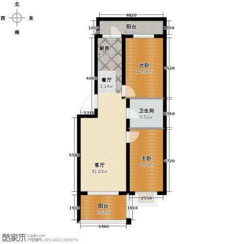 新龙城2室1厅1卫0厨101.00㎡户型图