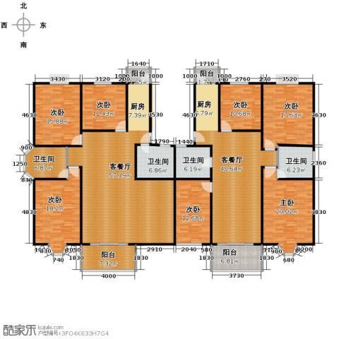 宋都梅苑人家7室2厅4卫0厨247.98㎡户型图