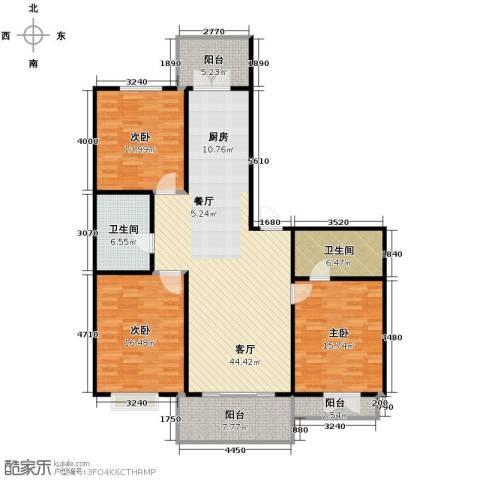 华远水木清华3室2厅1卫0厨163.00㎡户型图