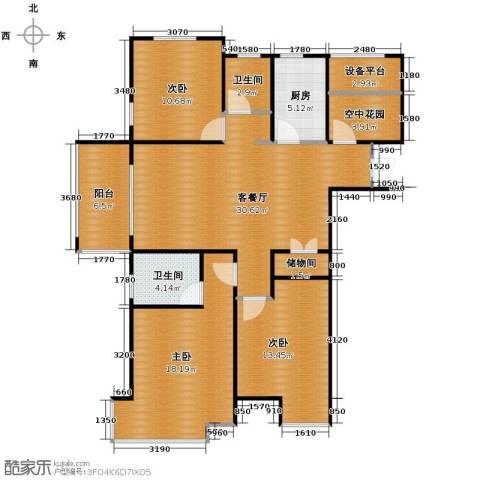 海亮九玺3室2厅2卫0厨111.00㎡户型图