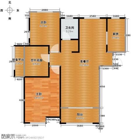 海亮九玺3室2厅1卫0厨92.00㎡户型图