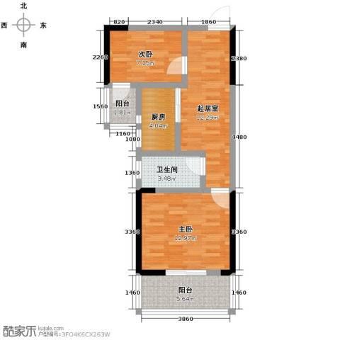 构峰源公馆71.00㎡户型图