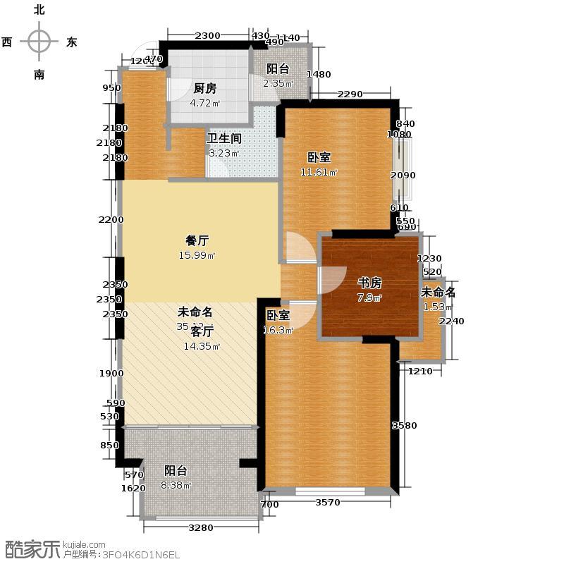 南都云庭101.24㎡1111住宅东楼B1至户型1室1卫1厨