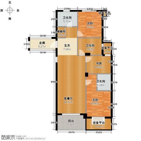 绿城玉兰花园3室1厅3卫0厨143.00㎡户型图