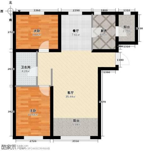 金昌国际2室2厅1卫0厨92.00㎡户型图