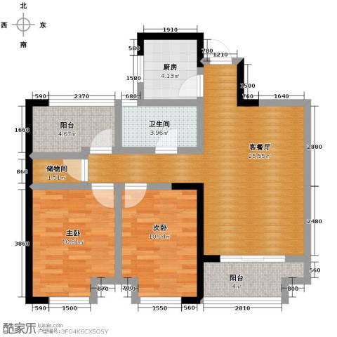 金辉・悦府2室2厅1卫0厨87.00㎡户型图
