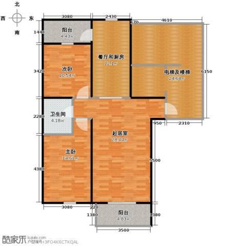 盛世香湾2室2厅1卫0厨139.00㎡户型图