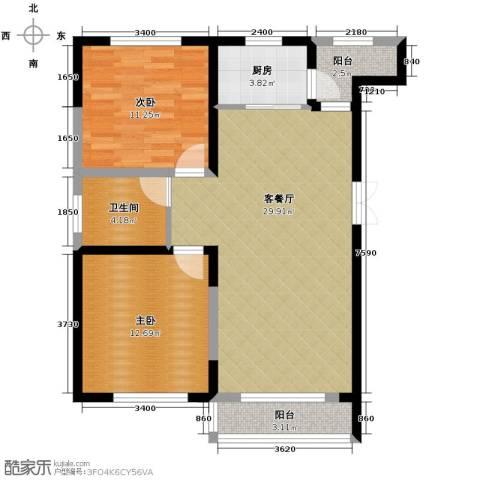 领秀世家2室2厅1卫0厨94.00㎡户型图