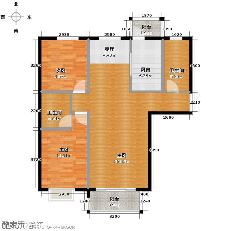盛业·阳光雅筑116.03㎡1#A户型3室2卫1厨