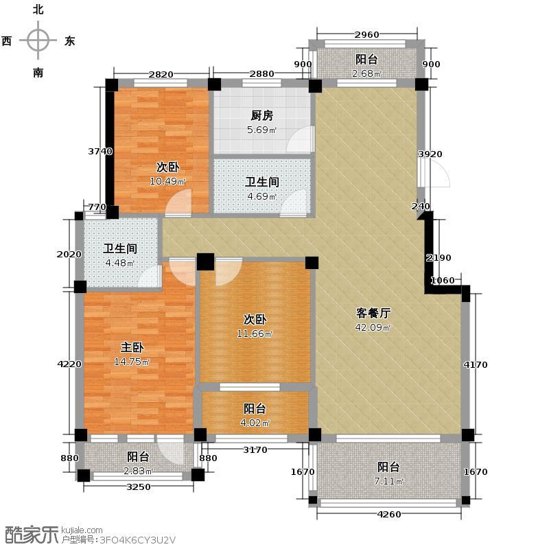 三盛托斯卡纳119.00㎡洋房户型10室