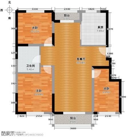领秀世家3室2厅1卫0厨113.00㎡户型图