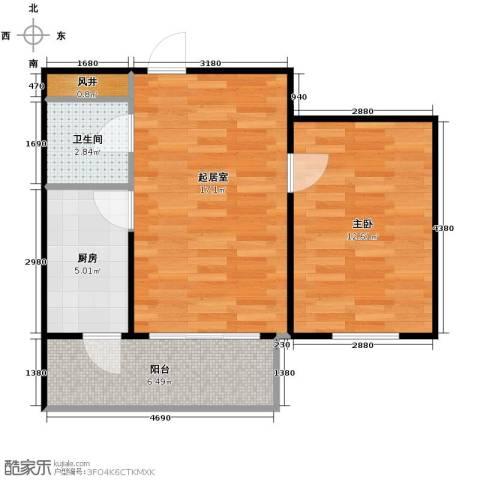 盛世香湾1室1厅1卫0厨61.00㎡户型图