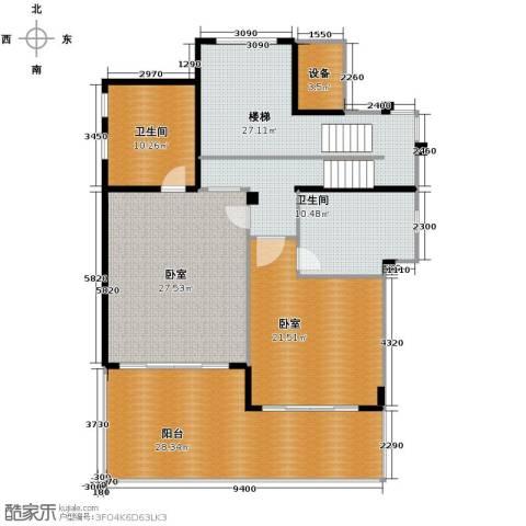中信・香水湾2室3厅3卫0厨160.00㎡户型图