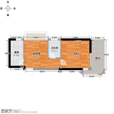 构峰源公馆53.00㎡户型图