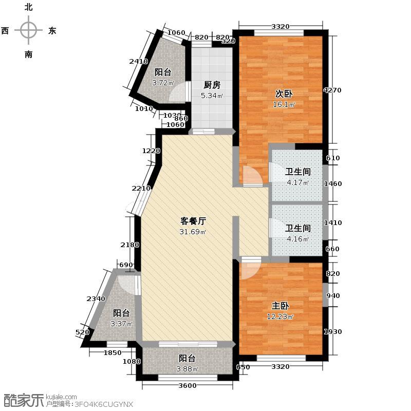 四季上东85.00㎡二期10号楼D4-2-c户型2室2厅2卫