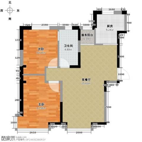 益田枫露2室2厅1卫0厨68.43㎡户型图