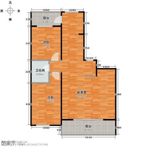 盛世香湾2室2厅1卫0厨118.00㎡户型图