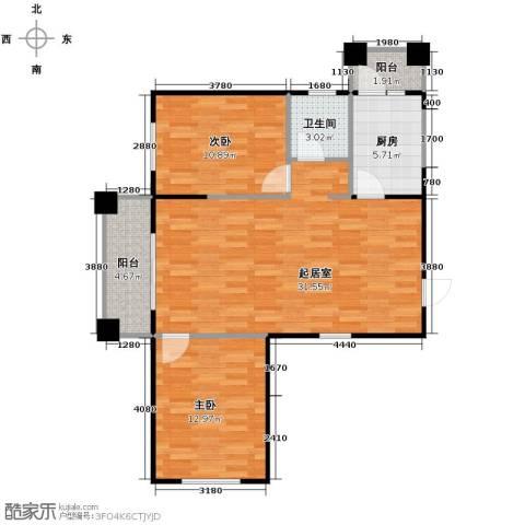 永安城2室1厅1卫0厨96.00㎡户型图