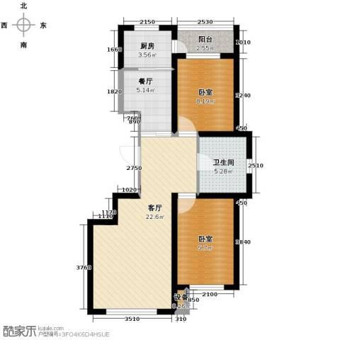 中意之尊2室2厅1卫0厨104.00㎡户型图