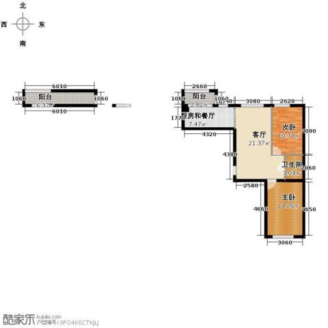 永安城2室1厅1卫0厨105.00㎡户型图
