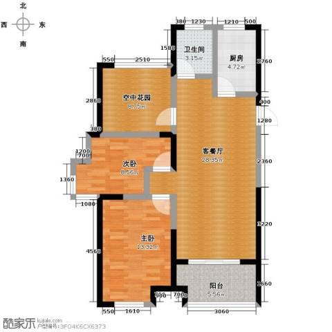 金辉・悦府2室2厅1卫0厨94.00㎡户型图