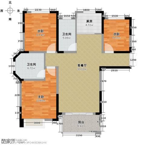 御景城3室2厅2卫0厨120.00㎡户型图