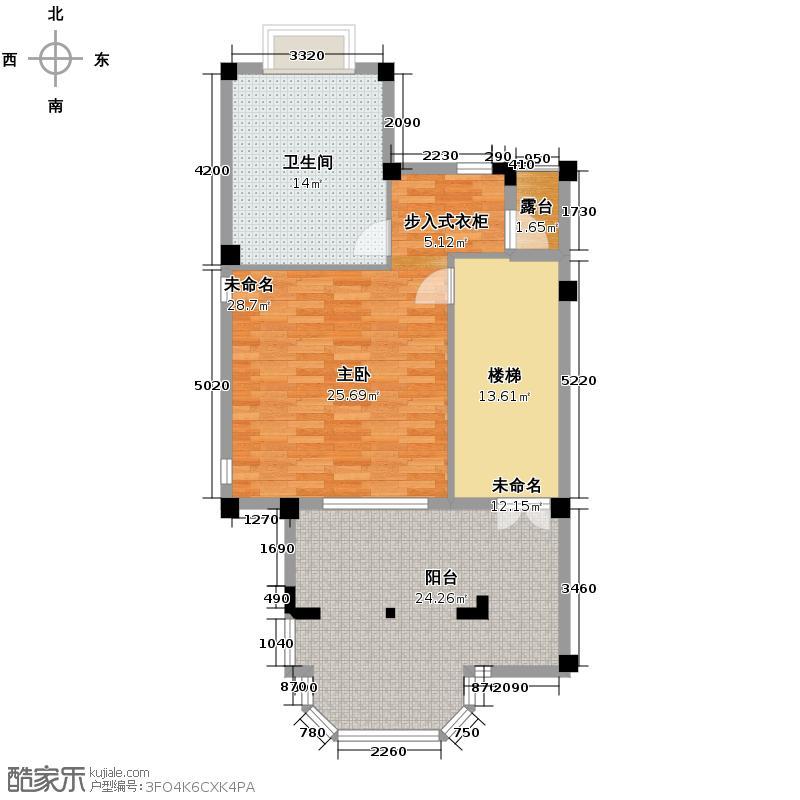 龙旺康桥丹堤89.70㎡户型10室