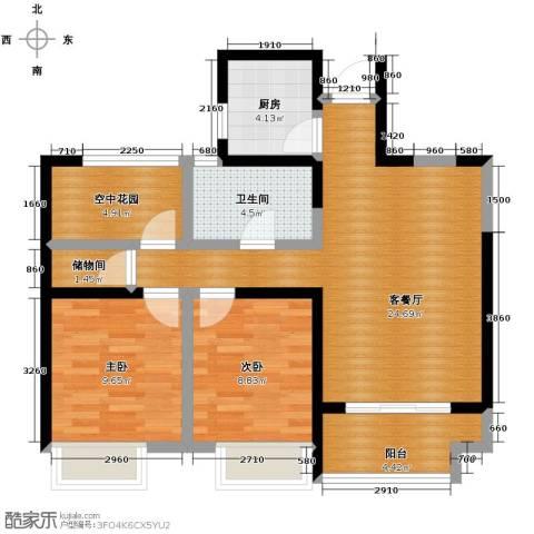 金辉・悦府2室2厅1卫0厨88.00㎡户型图