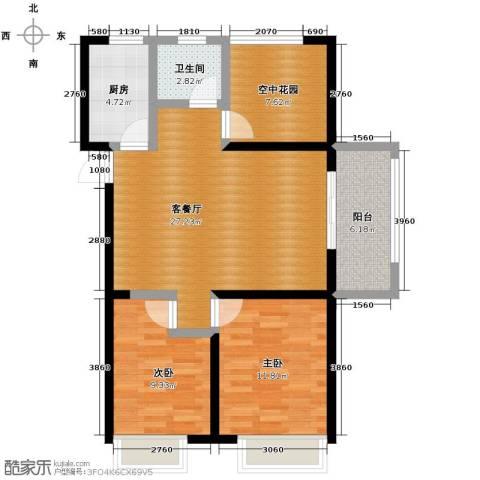 金辉・悦府2室2厅1卫0厨95.00㎡户型图