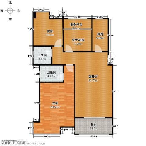海亮九玺3室2厅2卫0厨113.00㎡户型图