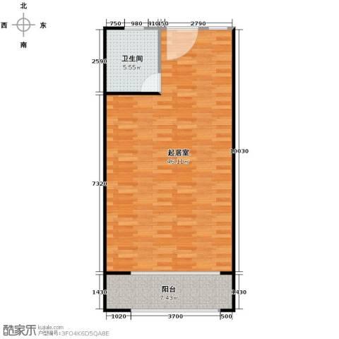 庄园御景1室1厅1卫0厨78.00㎡户型图
