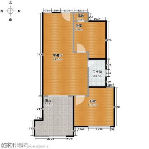 庄园御景2室2厅1卫0厨66.00㎡户型图