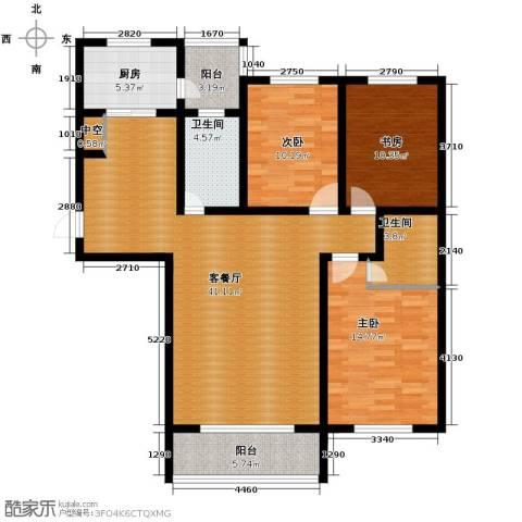 城市之星2室2厅1卫0厨111.00㎡户型图