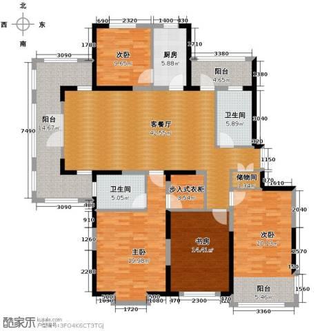 龙鸿怡家4室2厅2卫0厨208.00㎡户型图