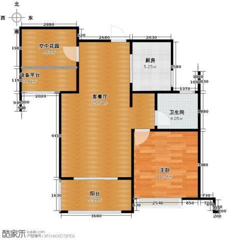 海亮九玺2室2厅1卫0厨76.00㎡户型图