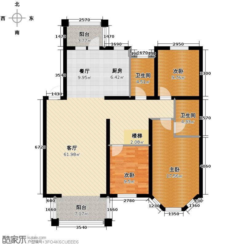 上院100.29㎡59B-1户型3室2厅2卫
