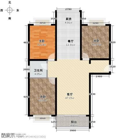 祥和嘉园3室1厅1卫0厨129.00㎡户型图