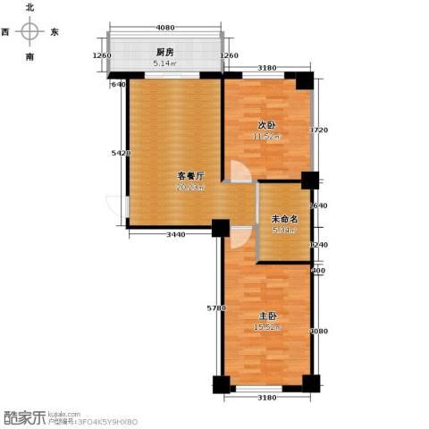 东方之珠龙腾苑2室1厅1卫0厨79.00㎡户型图