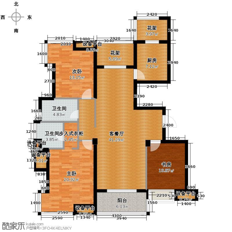 公园城143.00㎡F户型3室1厅2卫1厨