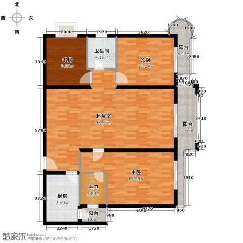 凯旋帝景3室0厅1卫1厨114.65㎡户型图