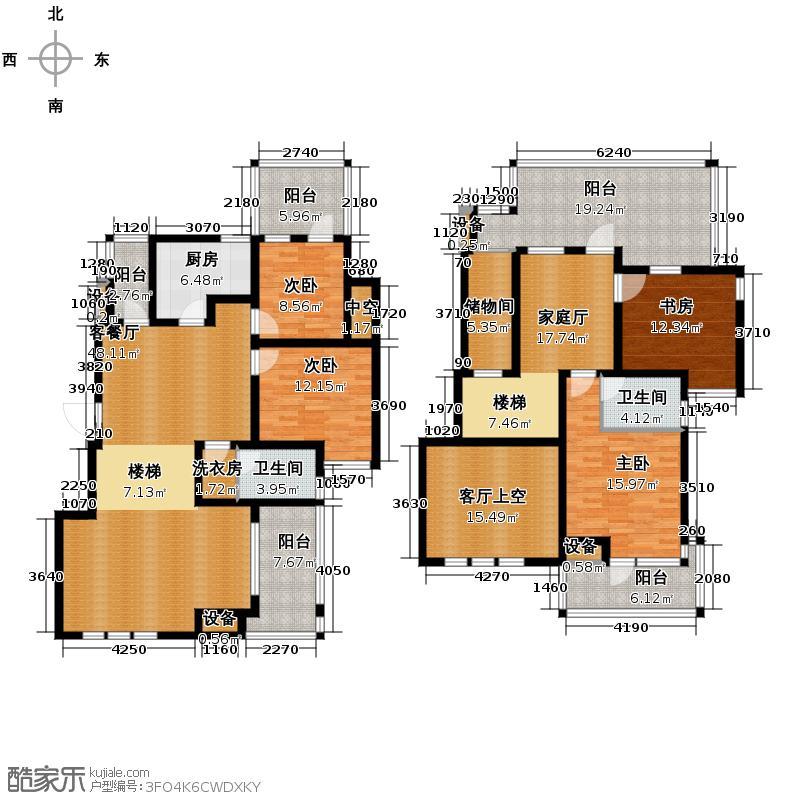 融侨天骏6.00㎡花园洋房6F+空中花园顶层户型4室1厅2卫1厨