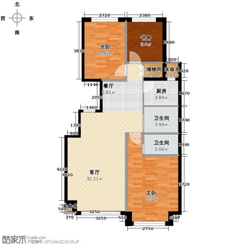 六合一方115.90㎡G户型3室2厅2卫