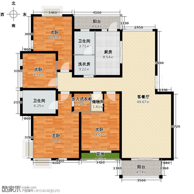 湘湖人家排屋158.15㎡户型4室1厅2卫1厨