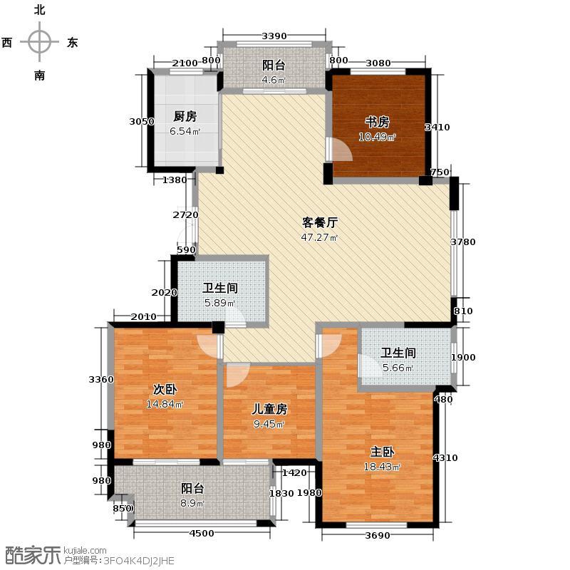 毓秀家园182.11㎡户型4室1厅2卫1厨