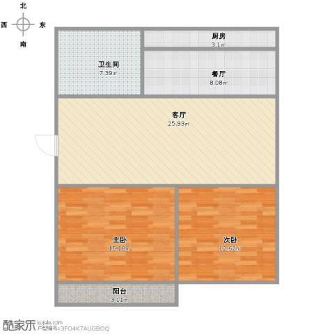 葡萄园小区2室2厅1卫1厨102.00㎡户型图